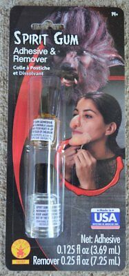 Spirit Gum Adhesive and Remover Kit Halloween Accessory Made in USA](Spirit Gum And Remover)