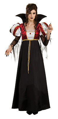 Royal Vampira Vampire Queen Gothic Twilight Fancy Dress Halloween Adult Costume