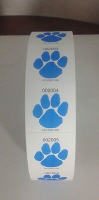 Custom Premium Roll Tickets - PAW PRINT - 1 roll of 2,000  tickets - BLUE](Custom Roll Tickets)