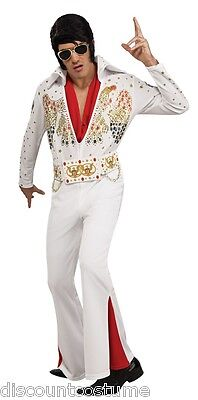 LICENSED DELUXE ADULT ELVIS PRESLEY HALLOWEEN COSTUME MENS SIZE SMALL 34-36](Size Small Mens Halloween Costumes)