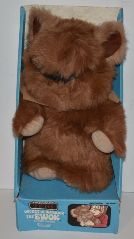 Star Wars 1984 WICKET Plush Ewok Kenner Stuffed Figure RARE With BOX -  (AE20)