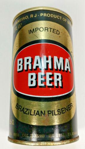 Vintage Brahma Beer Brazilian Pilsener Pull Tab Beer Can Steel Bottom Opened
