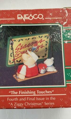 "1992 RARE ENESCO ZIGGY Christmas ornament ""The Finishing Touches UNUSED in box"