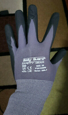 5 Pairs Of Body Guard Safety Gear Work Gloves Xsx-small - Series 260lf