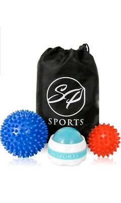 SP SPORTS ULTIMATE Spiky massage ball set - for Deep Tissue Back Massage, Foot M