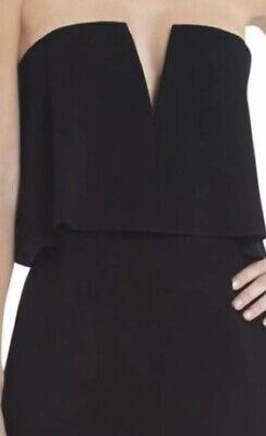 BCBG Max Azria Kate Sz 0 Strapless Dress Black Sheath Party Cocktail