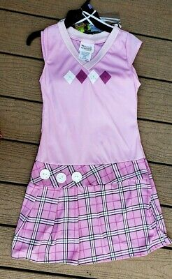 NEW 2 Pc Totally Ghoul Girl's Junior Costume Golfer New Teen Size 3-5