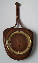1950's Haid Hanging Wall Clock, Made in Germany, w/ Key