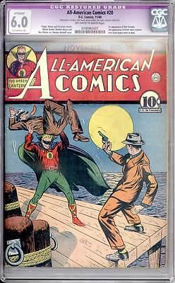 All American Comics # 20  1st Red Tornado !  CGC 6.0 rare Golden Age book !