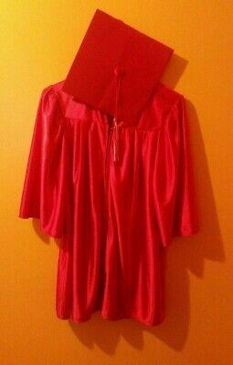 Taymark Kindergarten Preschool Graduation Red Gown With Cap & Tassel