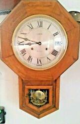 Vintage~EMPRESS~ KOREA  REGULATOR CLOCK~ 31 Day Time & Strike Solid Wood Wind Up