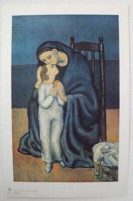 PICASSO, Pablo -Motiv: Mutter und Kind hochw. LICHTDRUCK Kunstdruck NEU -Rarität