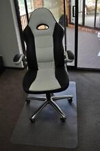 Bathurst Racer High Back Chair White with Floor Mat City Beach Cambridge Area Preview