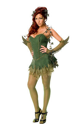Halloween-kostüme Poison Ivy Batman (Poison Ivy Batman Dark Knight Villain Fancy Dress Halloween Sexy Adult Costume)