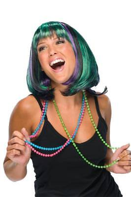 Mardi Gras Wigs (Mardi Gras Wig Green Purple Black Short Bob With)