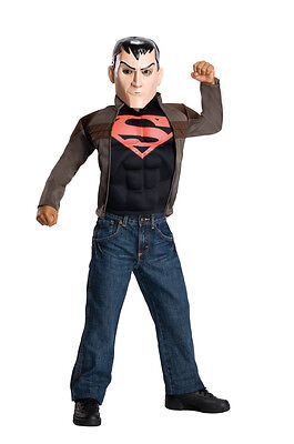 Young Justice Superboy Costume (Superboy Young Justice DC Comics Superhero Fancy Dress Halloween Child)