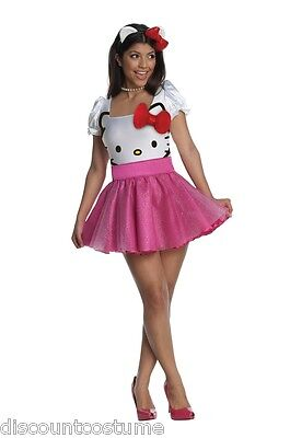 OFFICIAL LICENSED ADULT HELLO KITTY WOMEN'S SIZE X-SMALL HALLOWEEN COSTUME - Hello Kitty Adult Halloween Costume