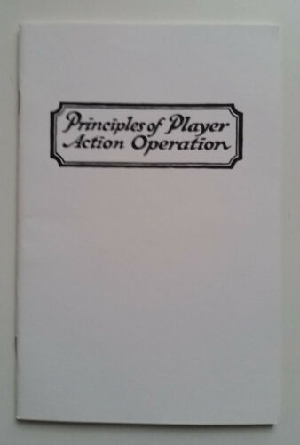 Principles of Player Action Operation by Standard Player Action Co. Player Piano