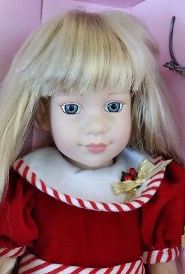 "Rare Magic Attic Doll Alison 18"" In. in Christmas Dress NIB"