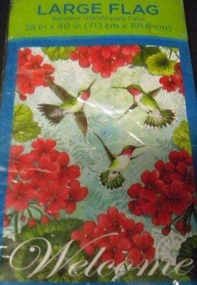 - Large House Flag Welcome Hummingbirds Flowers Edition  28