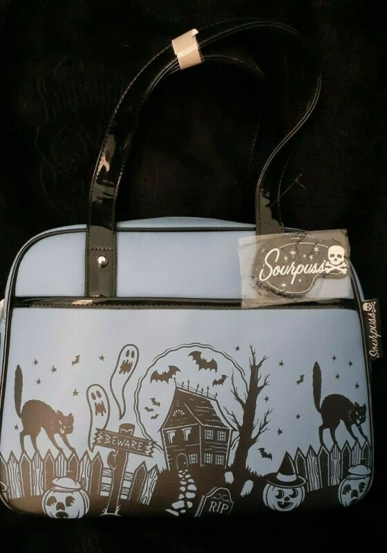 Sourpuss Haunted House bowler tote, new with tags