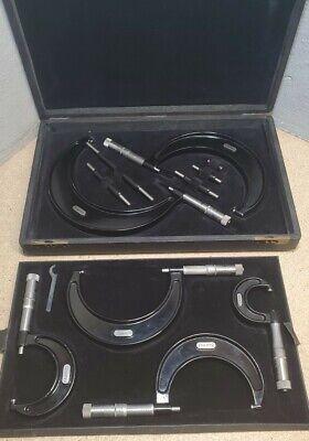 Starrett 436 Outside Micrometer Set 0 To 6 In Beautiful Vintage Case