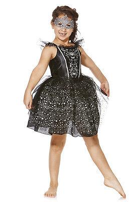 Carnival fancy dress up BNWT 7-12yrs Girls Costume Mask F&F (Black Swan Dress Up Halloween)