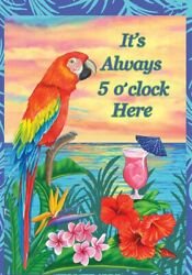 5 o clock somewhere mary lou troutman beach garden boat outdoor indoor flag sign