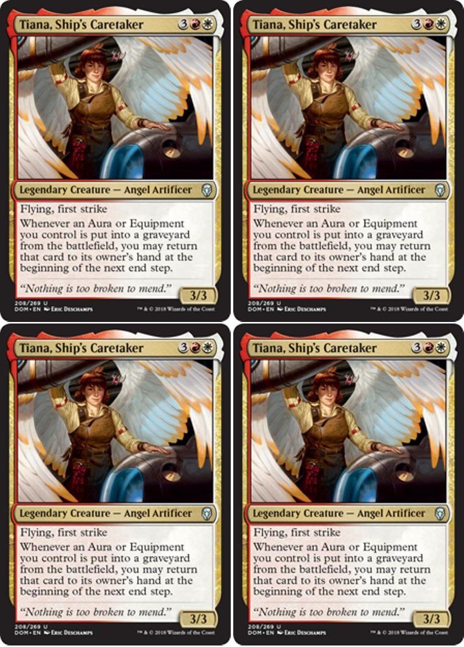 Human Wizard Unc 4 x ADELIZ THE CINDER WIND NM mtg Dominaria Gold