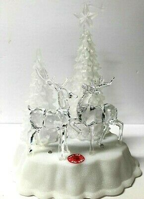 Led Musical Christmas Tree And Reindeer Village Scene