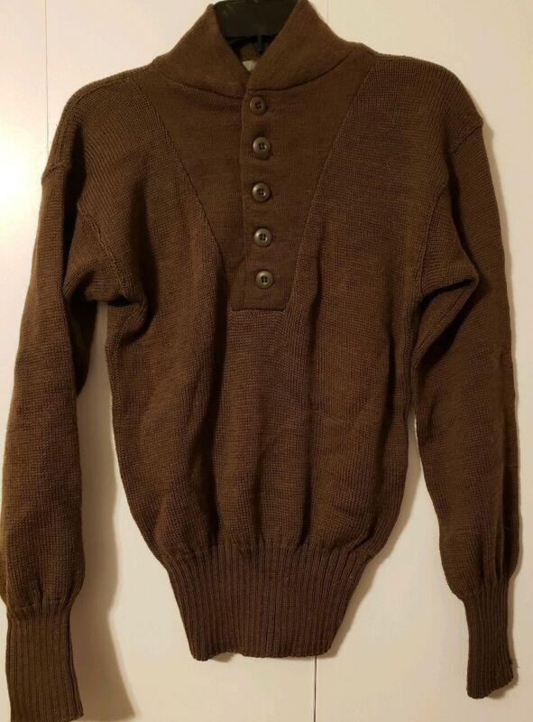 Submarine  5 Button 100% Wool Sweater - Medium