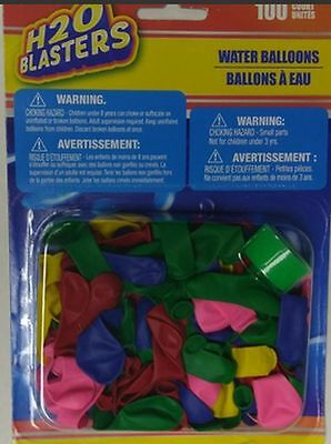100 WATER BALLONS WITH FILLER MAGIC WATER GAMES WET WATER - Water Ballons