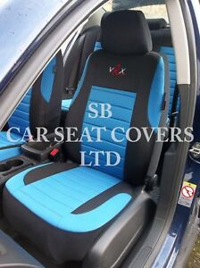 TO FIT A FIAT PUNTO CAR, SEAT COVERS, VRX SPORT BLUE FULL SET