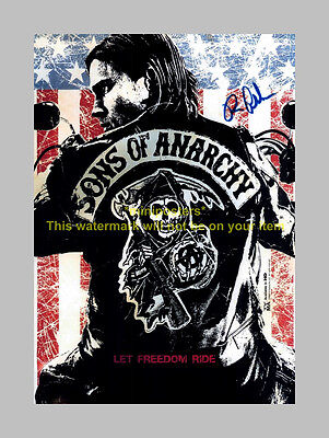 """SONS OF ANARCHY PP SIGNED 12""""X8"""" POSTER RON PEARLMAN CLAY SOA"""