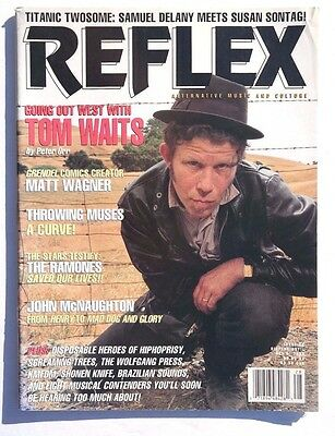 Vtg October 1992 Reflex Alternative   Culture Magazine Music News Tom Waits