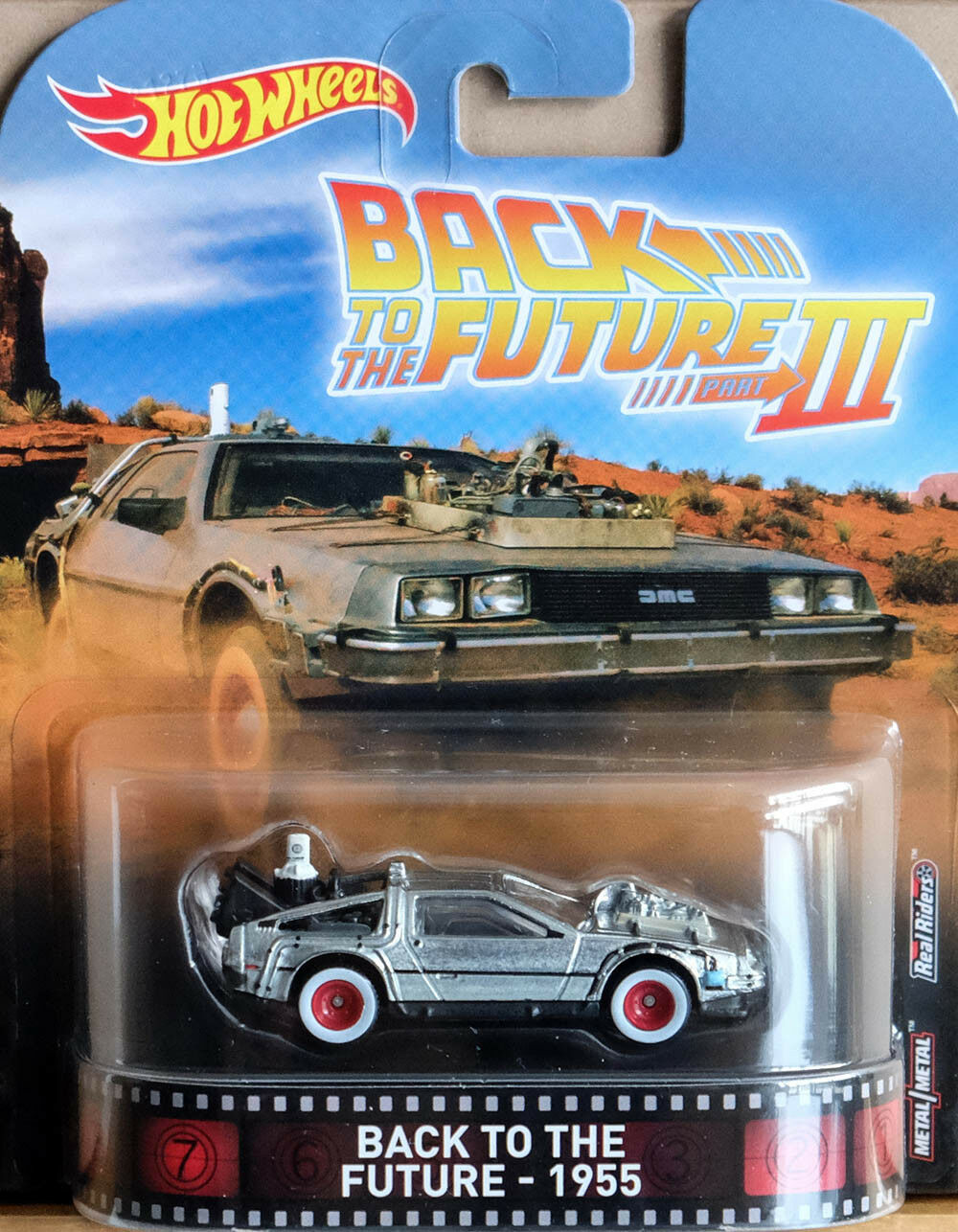 DeLorean Time Machine Back To The Future III 1955 Retro 1:64 Hot Wheels DWJ77