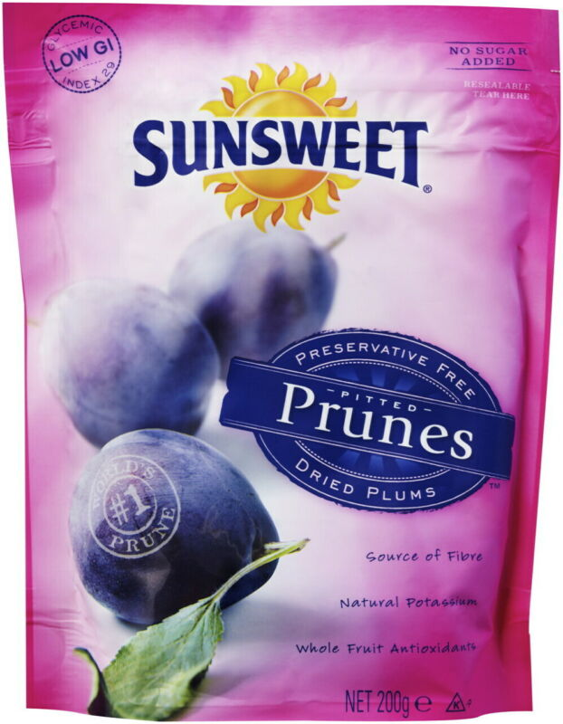 Sunsweet Pitted Prunes 200g (Carton of 8)