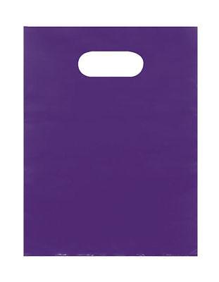 Plastic Bags 1000 Purple Shopping Merchandise Die Cut Handles 9 X 12 Diecut