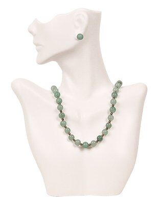 Necklace And Earring Bust Jewelry Display White New Free Shipping