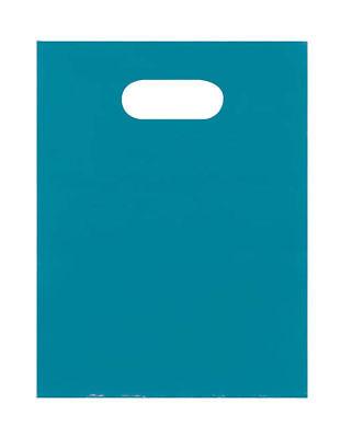 Plastic Bags 1000 Teal Blue Shopping Merchandise Die Cut Handles 9 X 12 Diecut