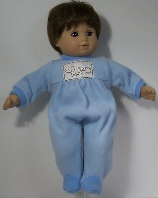 BLUE Elephant PAJAMA Pj Sleeper Doll Clothes For Bitty Baby Boy Twin (Debs)