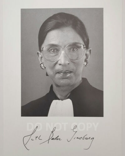 Ruth Bader Ginsburg Supreme Court Justice reprint signed 8x10 photo RP