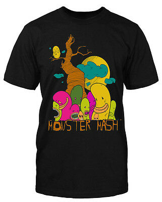 Monster Mash T-Shirt Fun Comic Zeichentrick Trickfilm Sprüche Halloween Party (Halloween Film T Shirts)