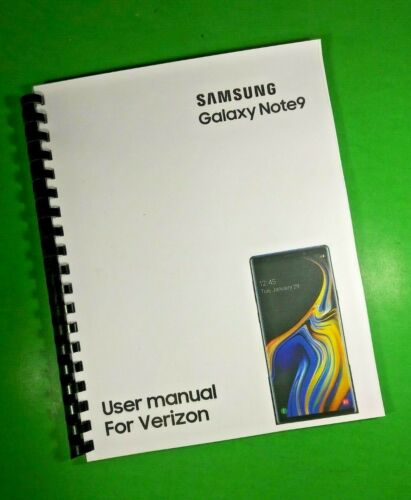 """LASER 8.5X11"""" Samsung Galaxy Note9 For Verizon Phone 192 Page Owners Manual"""