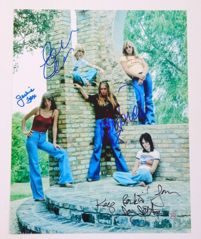 The Runaways * JOAN JETT, LITA FORD, FOX & CURRIE * Signed 11x14 Photo AD1 COA