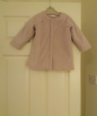 Mamas & Papas gorgeous dusky pink coat. Age 18 to 24 mths. Very soft snd cosy.
