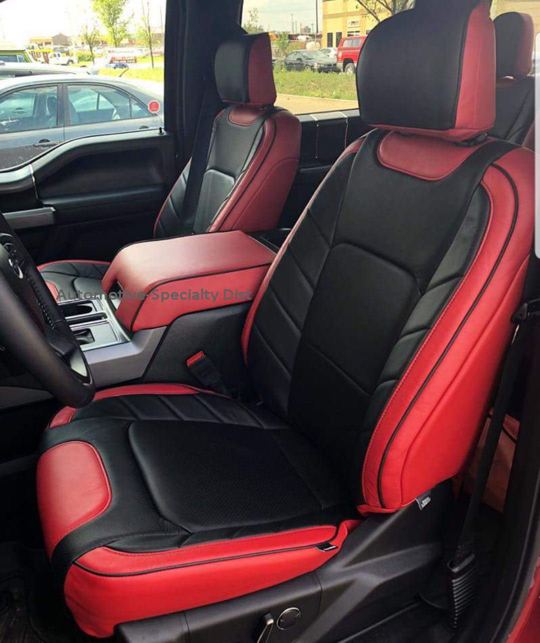 KATZKIN RED & BLACK LEATHER INT SEAT CVRS FIT 2015-2018 ...