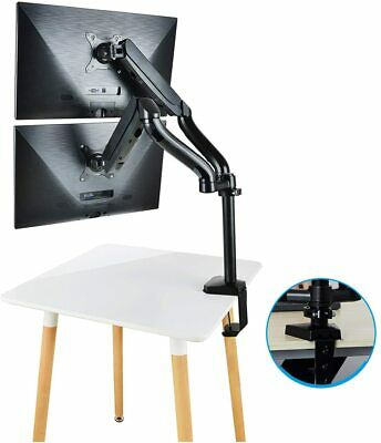CLATINA Dual LCD Monitor Mount Stand with 2 Fully Adjustable Screen Arms  27inch