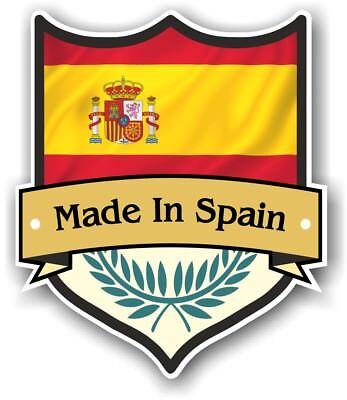 en Schutz Design mit Spanisch Land Auto Aufkleber 100x85mm (Aufkleber In Spanisch)