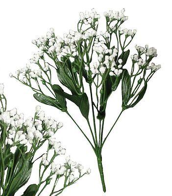 Lot of 24 White Baby Breath Gypsophila  Wedding Home Decor Craft Silk Flower